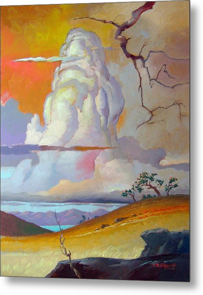 Cottonwood Clouds 3 Metal Print