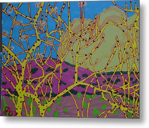 Cottonwood Number 4 Metal Print by Ray  Petersen