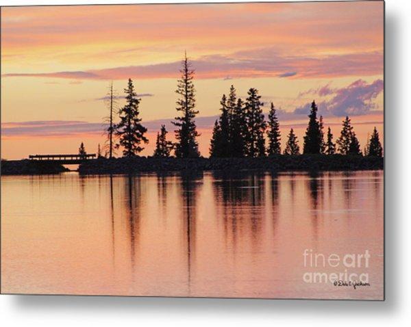 Cottonwood Sunset Lake Reflections  Metal Print