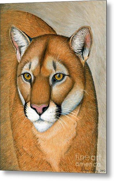 Cougar Portrait Metal Print