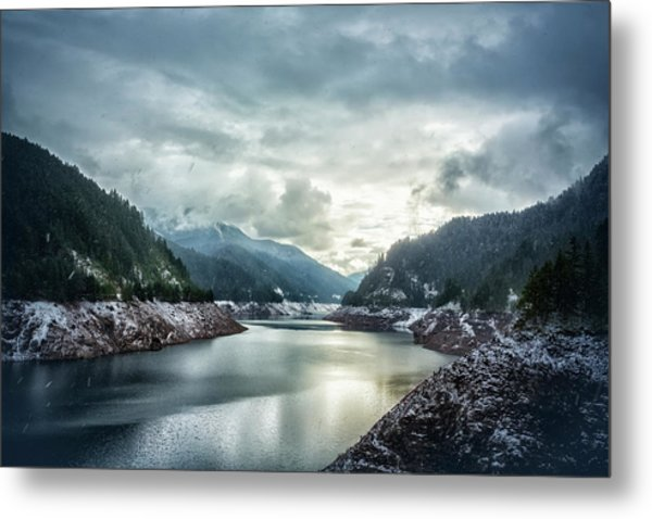 Cougar Reservoir On A Snowy Day Metal Print