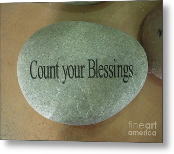 Count Your Blessings Metal Print by Deborah Finley