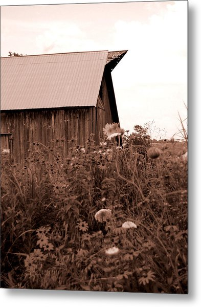 Country Barn Metal Print by Audrey Venute