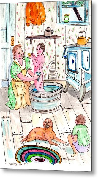 Country Bath Metal Print