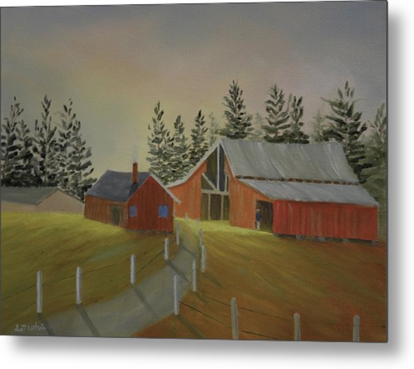 Country Farm Metal Print