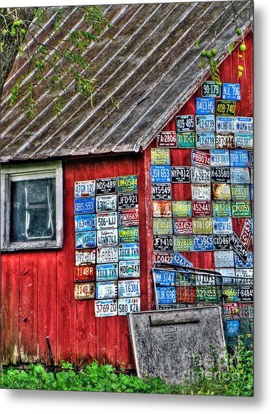 Country Graffiti Metal Print