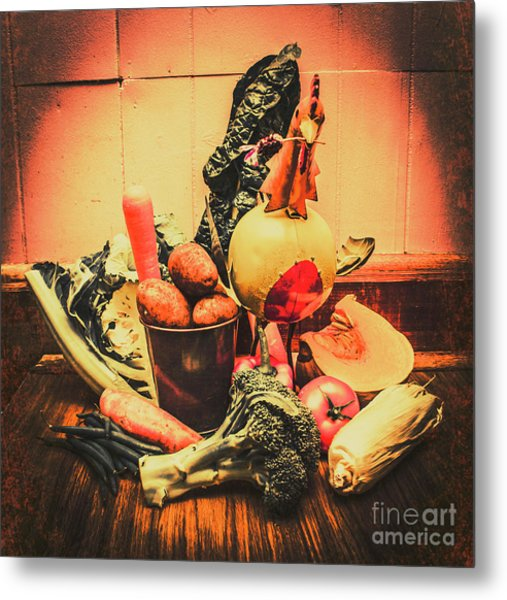 Country Kitchen Art Metal Print