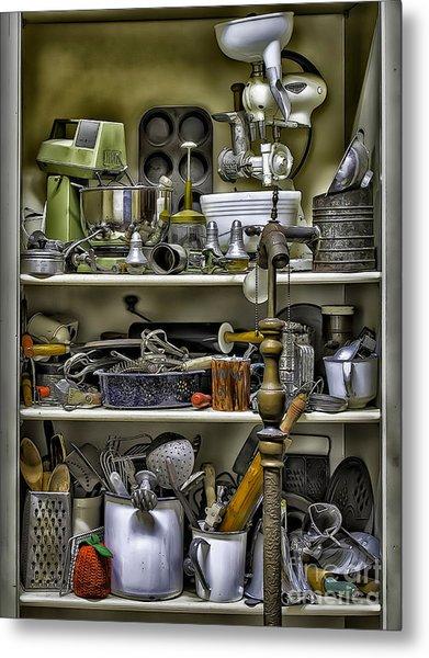 Country Kitchen Pantry Metal Print