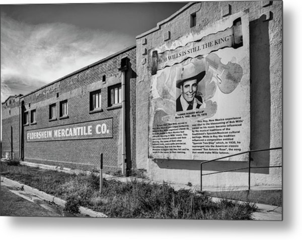 Metal Print featuring the photograph Country Legend Bob Wills In Roy New Mexico by Mary Lee Dereske