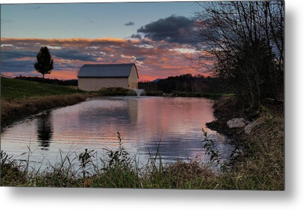 Country Living Sunset Metal Print