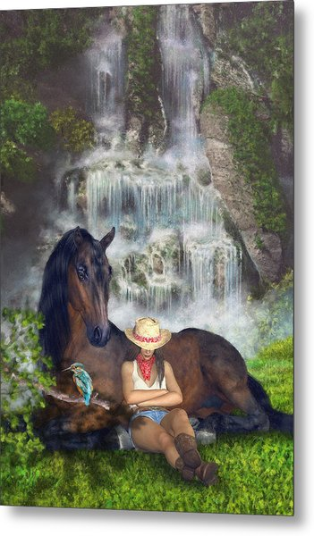 Country Memories 1 Metal Print