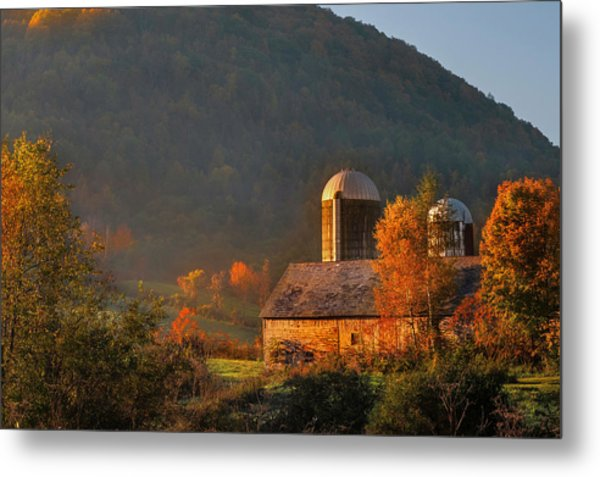 Country Mornings - West Pawlet Vermont Metal Print