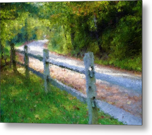 Country Road Metal Print by Ralph Liebstein