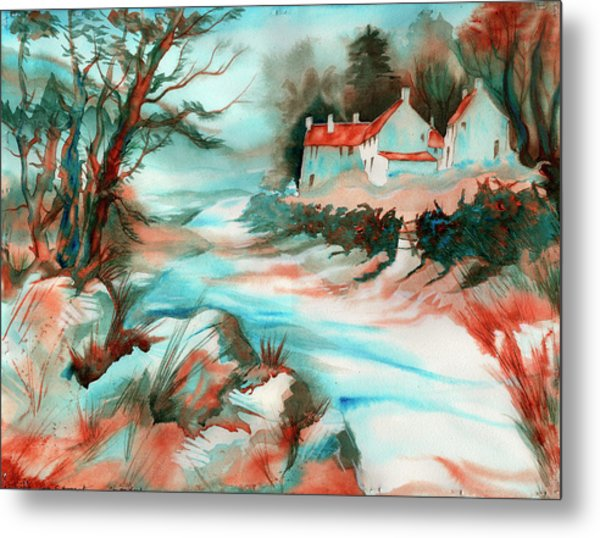 Metal Print featuring the painting Country Road by Xavier Francois