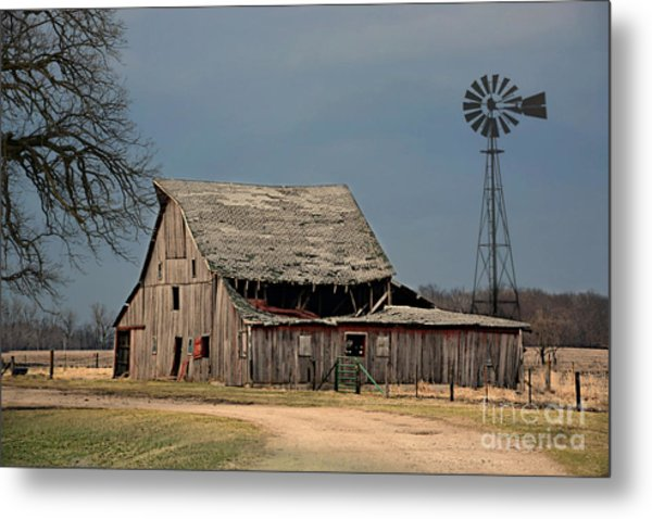 Country Roof Collapse Metal Print