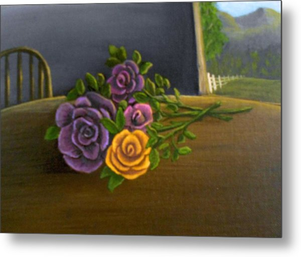 Country Roses Metal Print