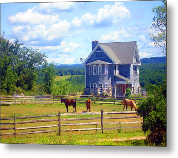 Country Splendor Metal Print by Ashley Porter
