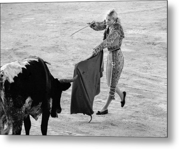 Metal Print featuring the photograph  Coup De Grace In Pink by Jennifer Wright