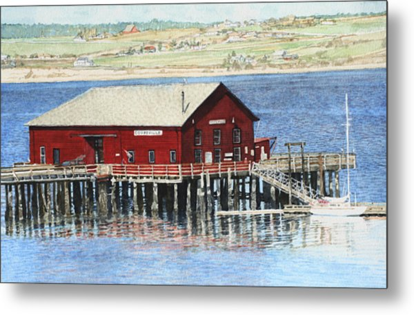 Coupeville Wharf Metal Print by Perry Woodfin