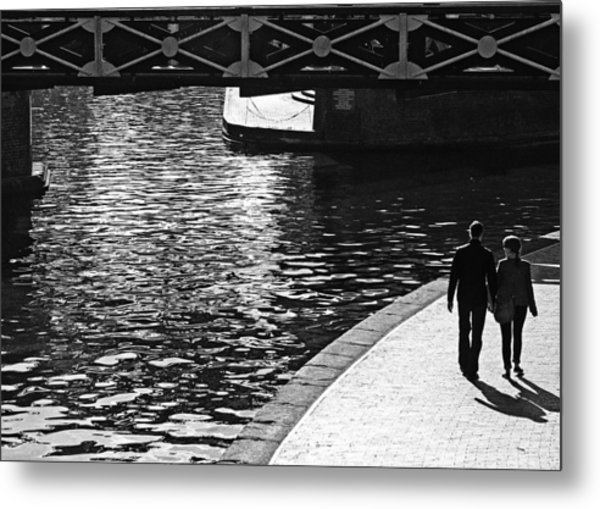 Metal Print featuring the photograph Couple And Canal by Adrian Pym