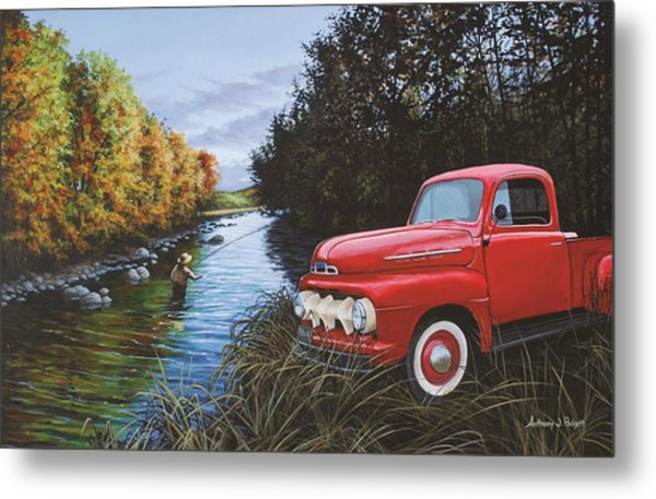 Couple Of Old Timers Metal Print