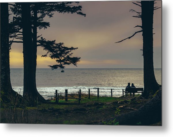 Couples Overlook Metal Print