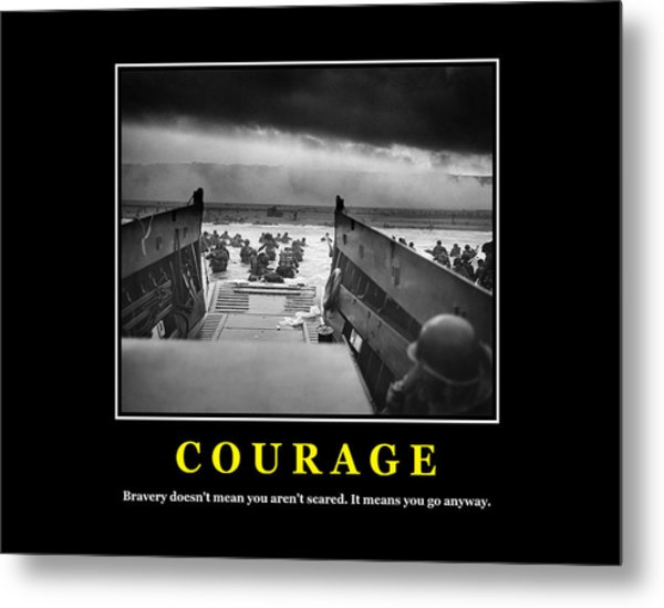 Courage -- D Day Poster Metal Print