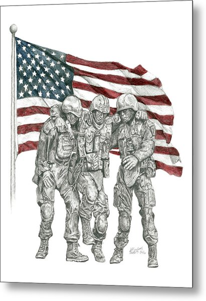 Courage In Brotherhood Metal Print