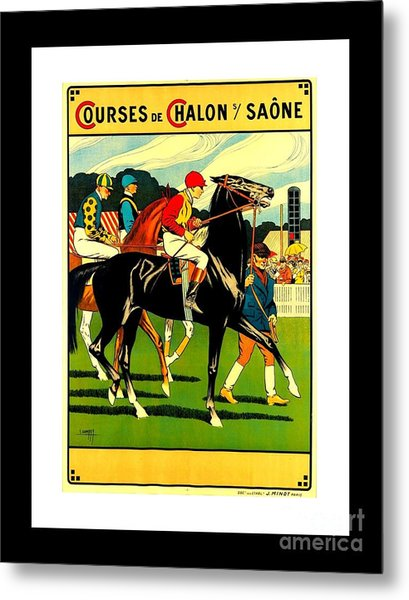 Courses De Chalon French Horse Racing 1911 II Metal Print