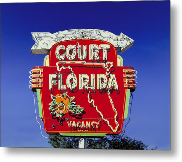 Court Florida Metal Print by Randy Ford