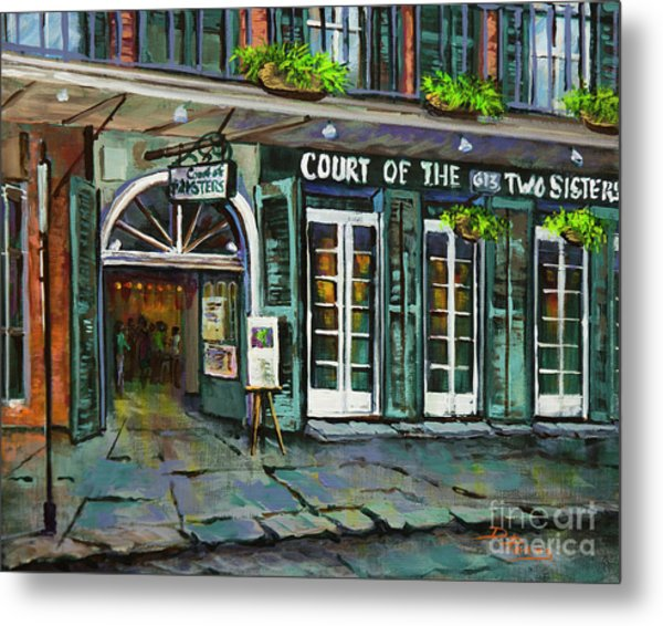 Court Of The Two Sisters Metal Print