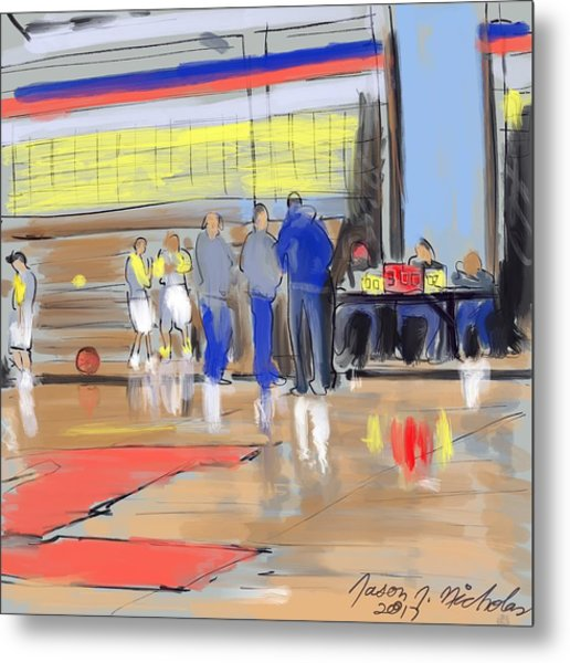 Court Side Conference Metal Print