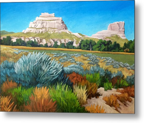 Courthouse And Jail Rocks 2 Metal Print