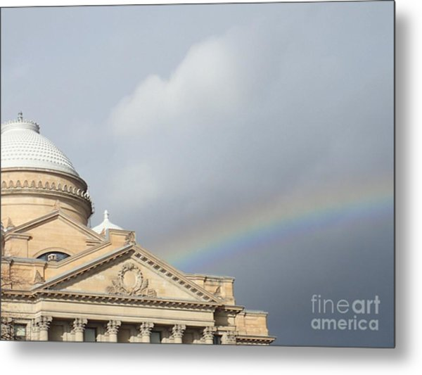 Courthouse Rainbow Metal Print