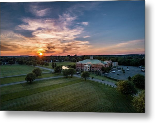 Courthouse Sunset Metal Print