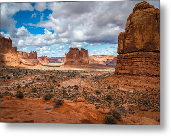 Courthouse Towers At Arches National Park Metal Print