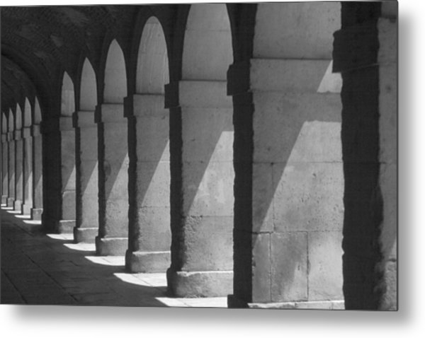 Courtyard Spain Metal Print by Douglas Pike