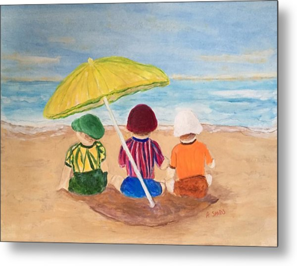 Cousins At The Beach Metal Print