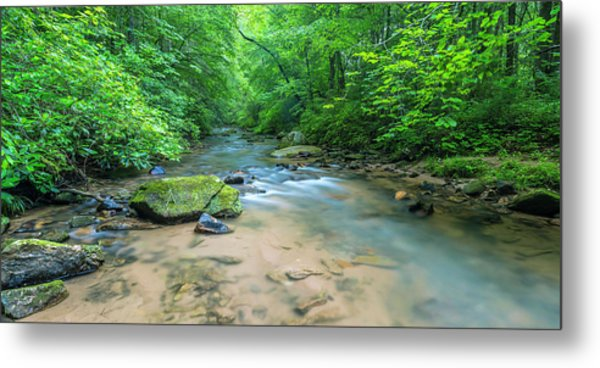 Metal Print featuring the photograph Cove Creek Panorama by Ranjay Mitra