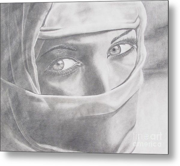 Covered Beauty Metal Print