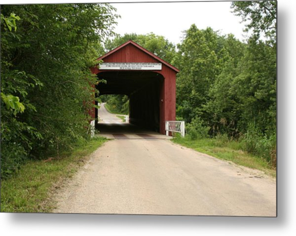Covered Bridge Metal Print by Gregory Jeffries