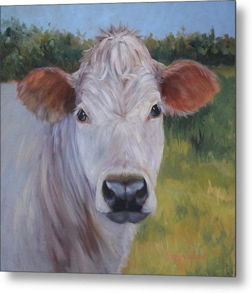 Cow Painting Ms Ivory Metal Print