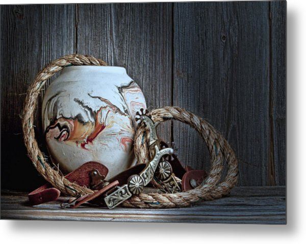 Cowboys And Indians Metal Print