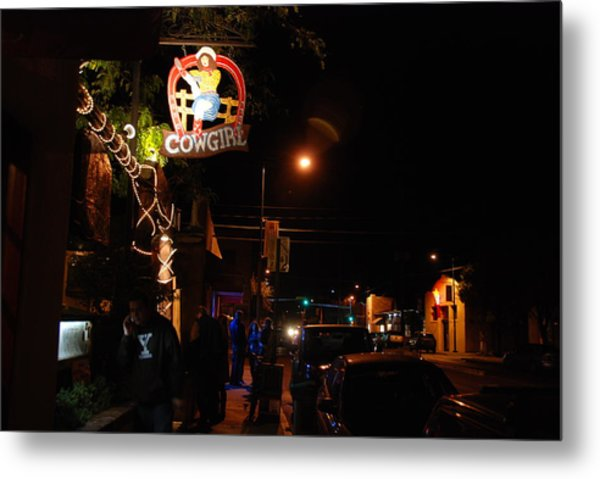 Cowgirl Bar In Santa Fe Metal Print