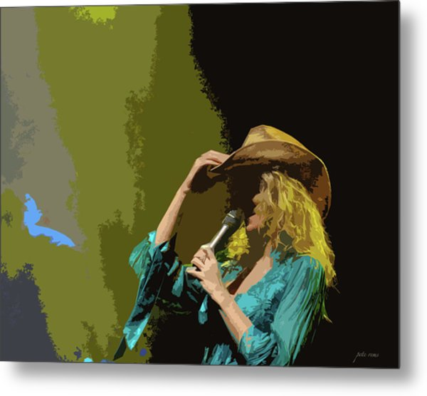 Cowgirl  Entertainer Metal Print