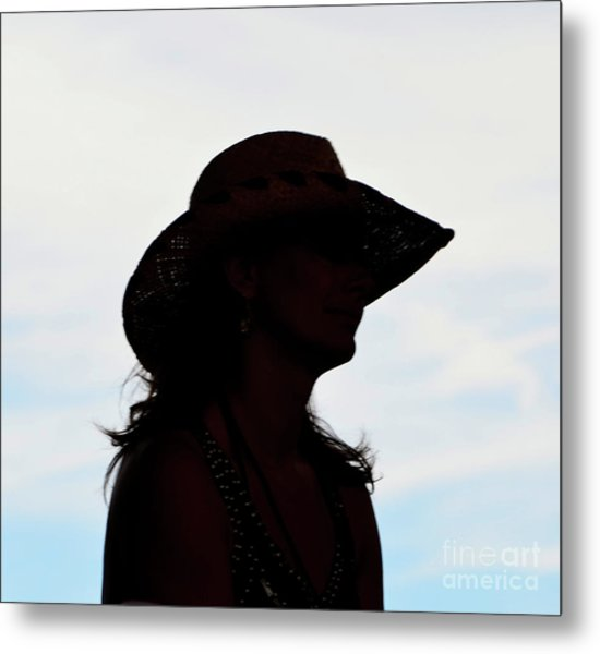 Cowgirl In The Sky Metal Print