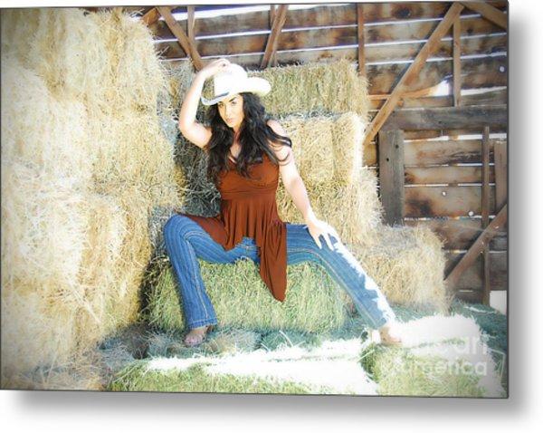 Cowgirl Metal Print