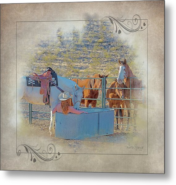 Cowgirl Spa 5p Of 6 Metal Print