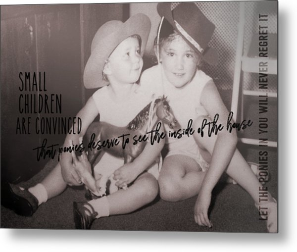 Cowgirls Quote Metal Print