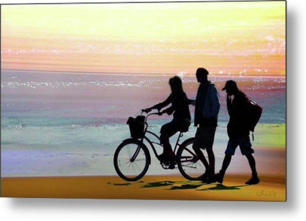 Cox Bay Bike Metal Print